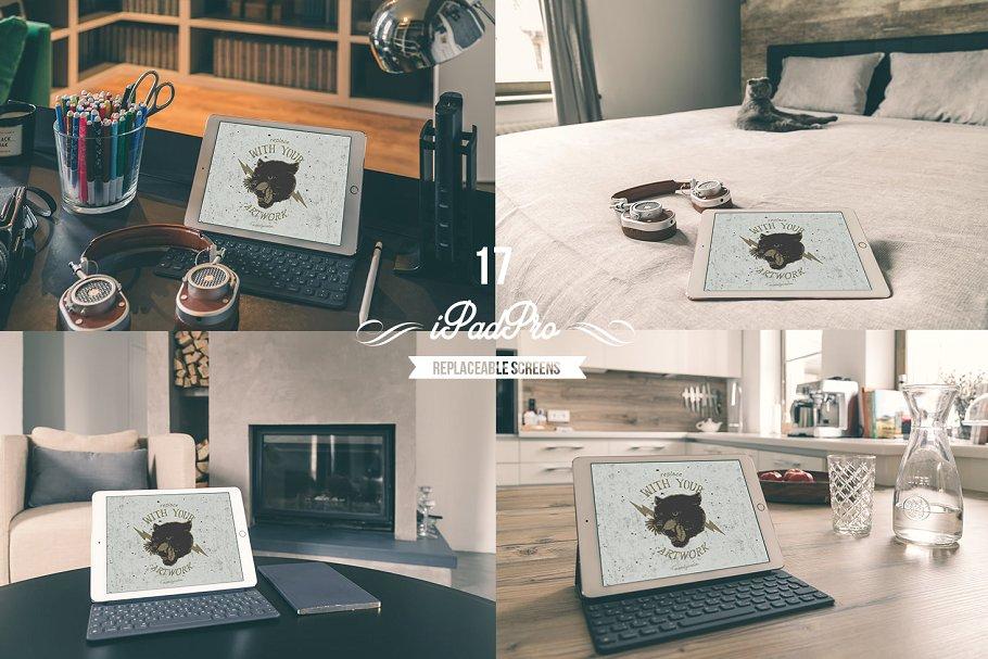 SOHO在家办公场景样机模板合集 In the house II设计素材模板