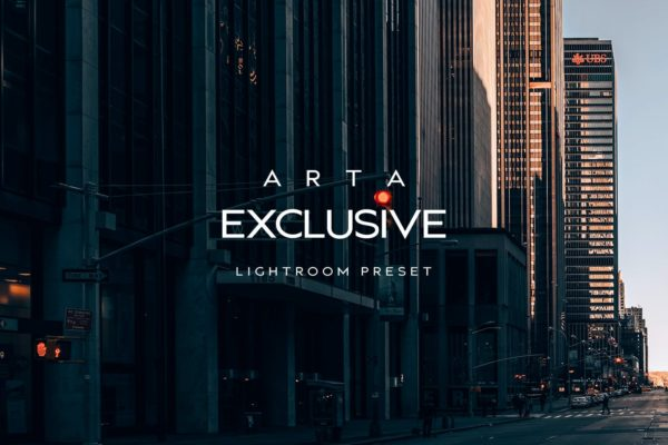 时尚暗色调城市建筑摄影后期调色LR预设 ARTA Exclusive Preset For Mobile and Desktop Light