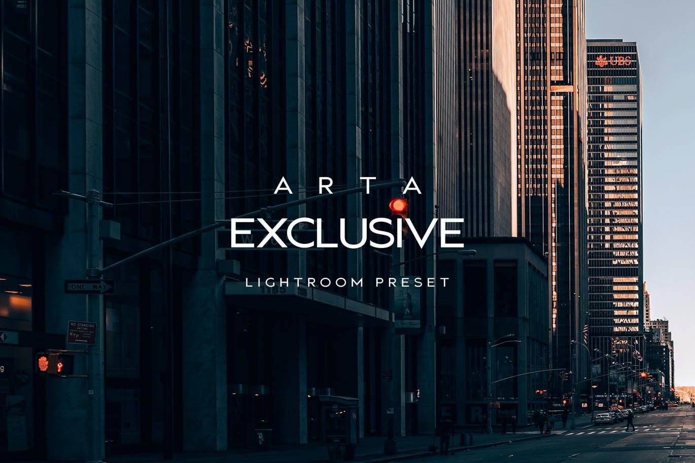 时尚暗色调城市建筑摄影后期调色LR预设 ARTA Exclusive Preset For Mobile and Desktop Light设计素材模板