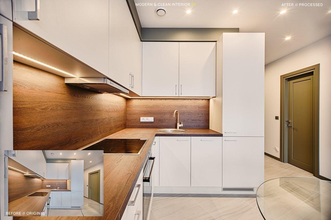 12款现代建筑&室内摄影后期LR调色预设 12 Modern & Clean Interior Presets + Mobile设计素材模板