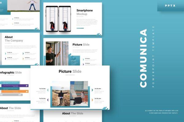 摄影/时尚/服装企业PPT幻灯片模板素材 Comunica – Powerpoint Template
