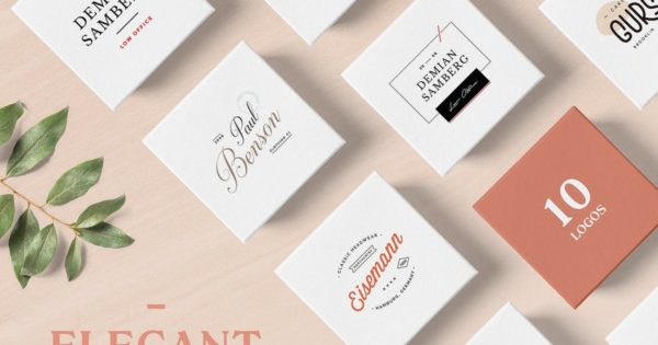 优雅的商店品牌Logo设计模板 Elegant Logo Templates