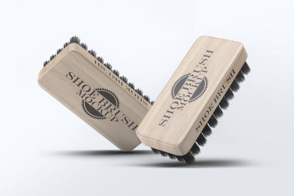 鞋刷品牌Logo设计预览样机模板 Shoe Brush Mock-Up