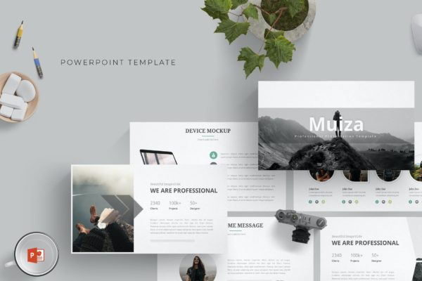 商务PPT素材模板下载 Muiza – Powerpoint Template