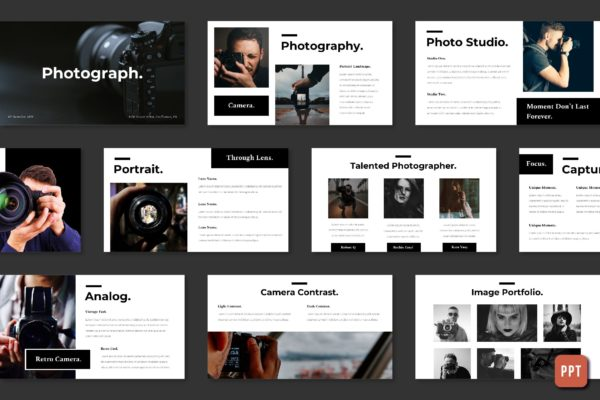 摄影艺术创意PPT模板 Photography – Powerpoint Template