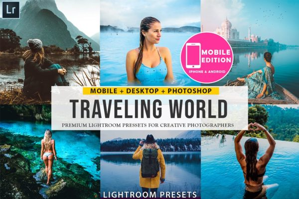 旅游摄影照片Lightroom调色预设 Traveling lightroom presets