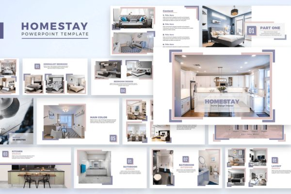 酒店设计PPT幻灯片模板 Powerpoin Homestay – Powerpoint Template