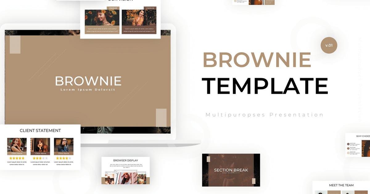 排版样式设计PPT演示幻灯片模板 Brownie – Powerpoint Template设计素材模板