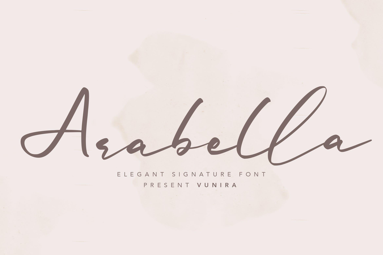 手写书法风格英文签名字体 Arabella   Elegant Signature Font设计素材模板