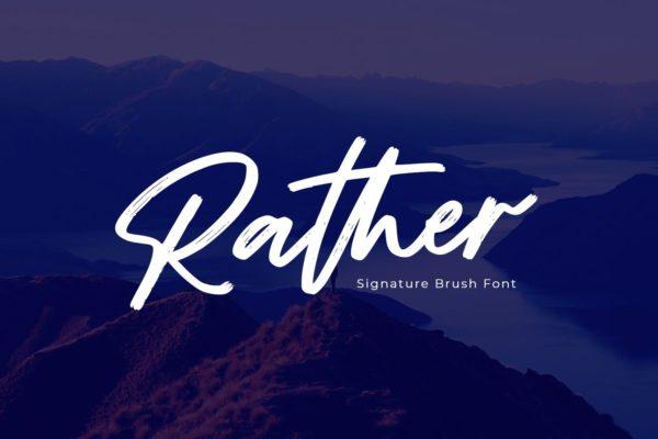 马克笔手写英文字体素材 Rather – Brush Font