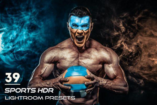 健身人士适用照片后期调色Lightroom预设 39 Sports HDR Lightroom Presets