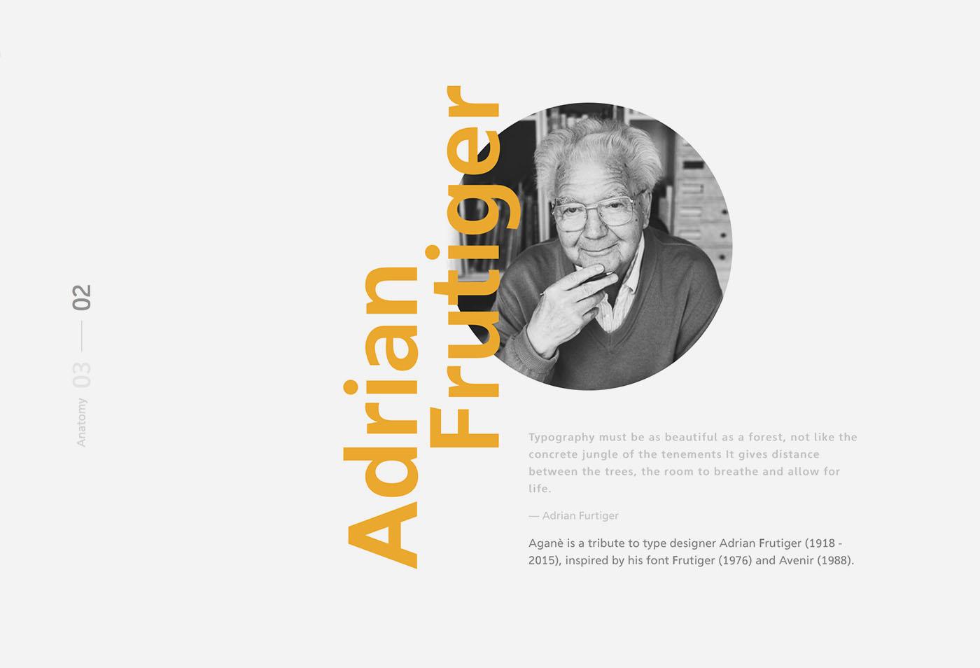 无衬线平面英文字体素材合集 Aganè Free Font设计素材模板
