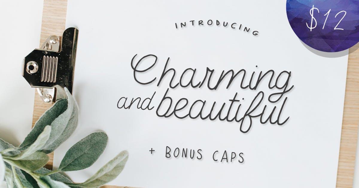 优雅英文手写网页字体 Charming and Beautiful Font设计素材模板
