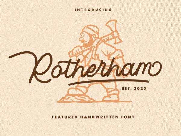 复古签名必备脚本字体素材