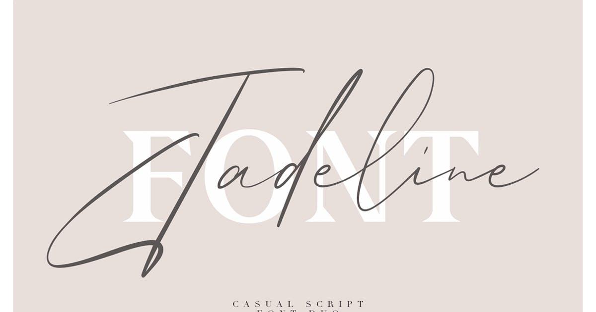 手写英文签名无衬线字体素材 Jadeline Script – Free Serif Font设计素材模板
