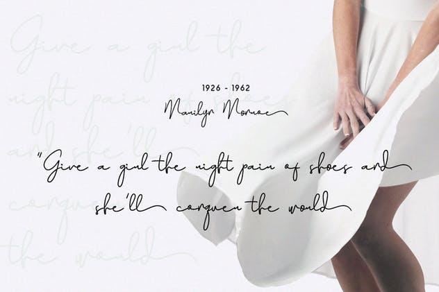 奢华签名字体 Maya – Luxury Signature Font设计素材模板