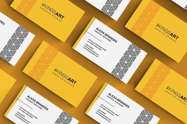 图案创意工作室名片设计模板 Business Card