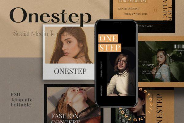 女性时尚生活方式社交媒体Instagram故事设计模板v1 One Step PACK 1 – Instagram Templ