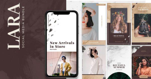 40款时尚现代的品牌故事社交媒体定制模板合集 Modern Social Media Templates
