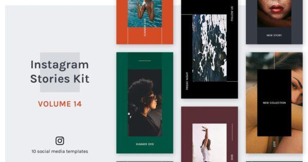 时尚现代风格Instagram故事社交媒体素材包 Instagram Stories Kit (Vol.14)