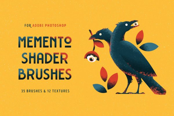 Photoshop上色笔刷 Shader Brushes for Photoshop