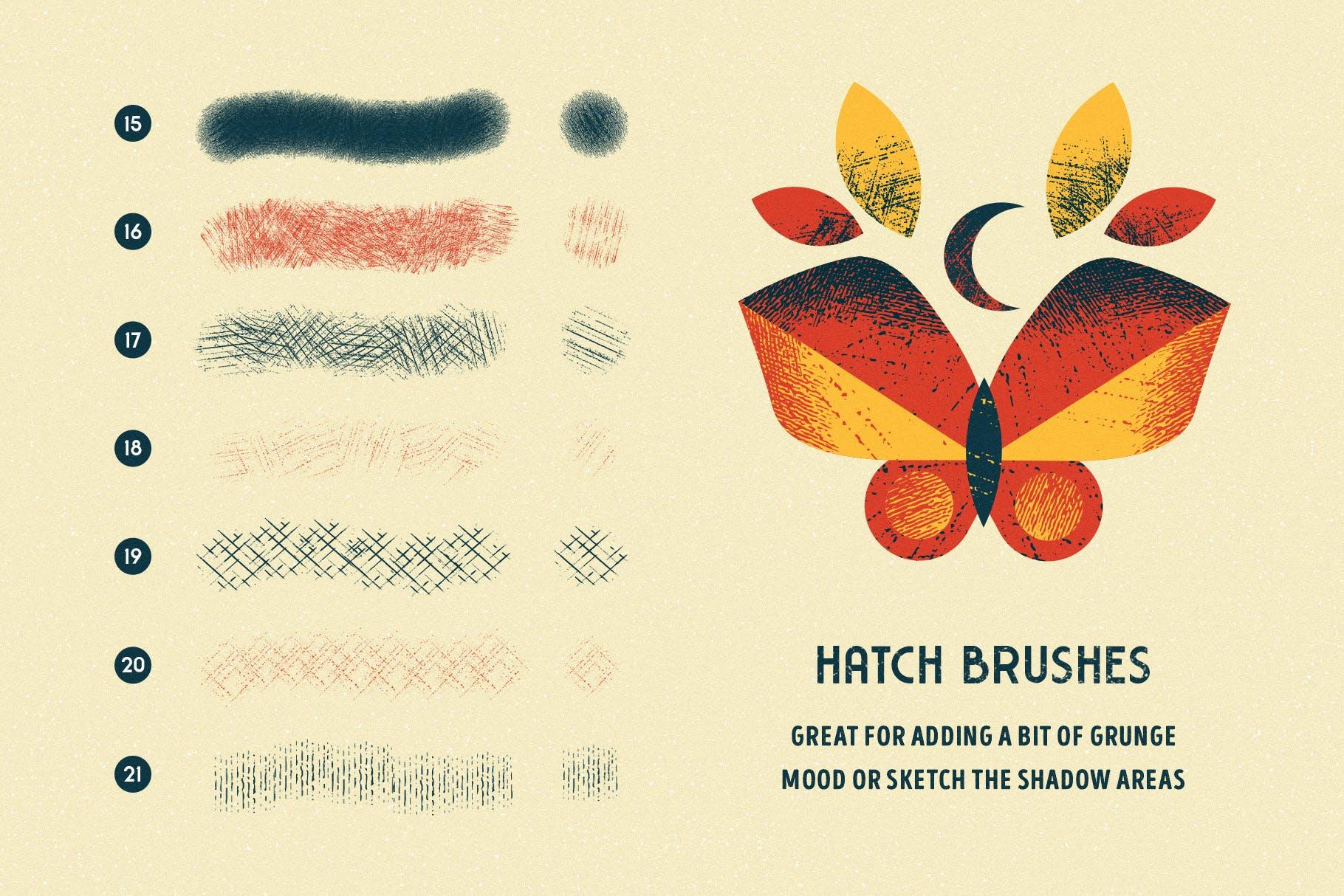 Photoshop上色笔刷 Shader Brushes for Photoshop设计素材模板