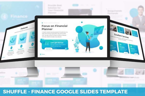 抽象商务演示/谷歌幻灯片模板 Shuffle – Finance Google Slides Template