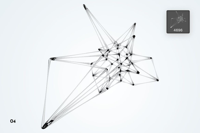 多边形玻璃形状PS画笔 Plexus Glass Shapes Photoshop Brushes设计素材模板