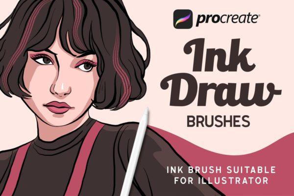 高级手绘画笔笔刷 InkDraw – Procrate Brushes