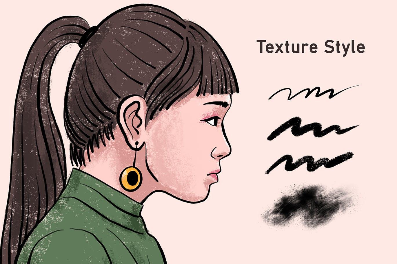 高级手绘画笔笔刷 InkDraw – Procrate Brushes设计素材模板