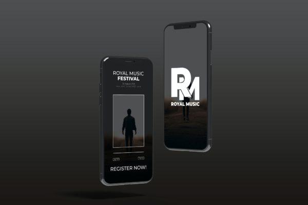 iPhone手机屏幕样机模板 Floating iPhone – Mockup