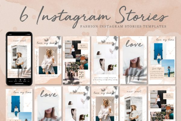 时尚服饰服装品牌社交媒体推广Instagram故事模板 Fashion Instagram Stories