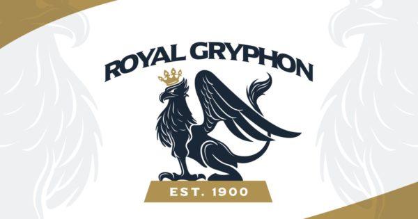皇冠鹰头狮Logo标志设计模板 Heraldic Royal Crowned Gryphon Crest Logo