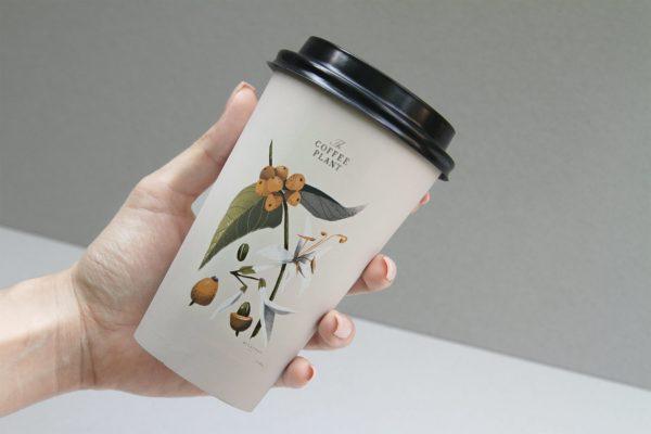 纸杯图案设计样机模板 Coffee Beans Cup Mockup