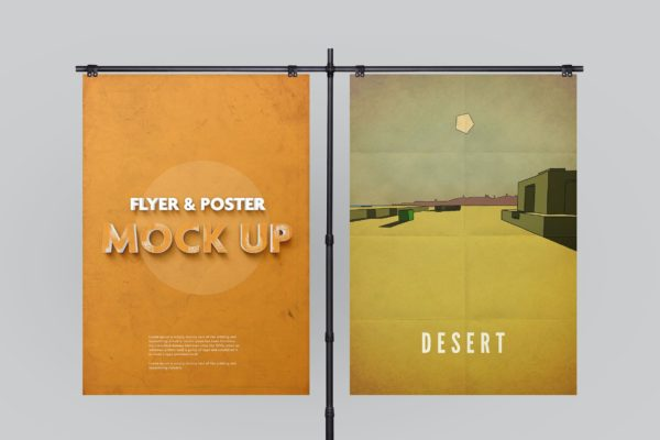 支架海报传单广告展示样机模板 Poster Mockup vol.2 / 10 Different Images