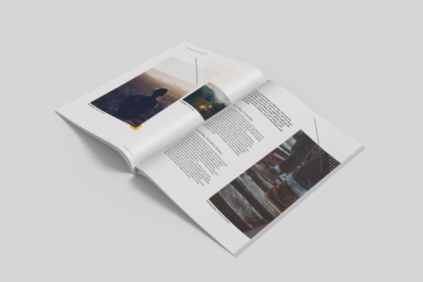 极简杂志内页版式设计开页效果图样机v2 Clean Magazine Mockup V2