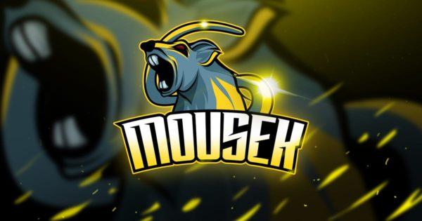 老鼠竞技Logo&队徽设计模板 Mousek – Mascot & Logo Esport