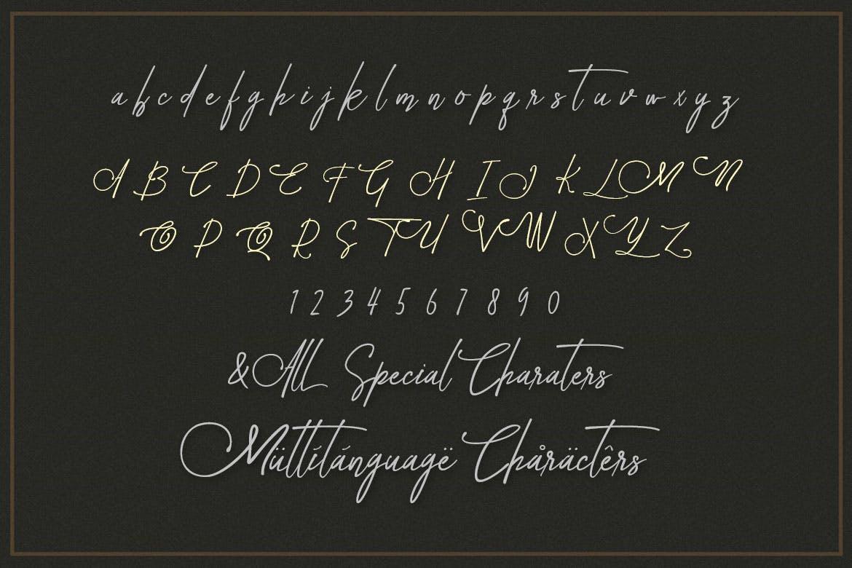 装饰字母英文衬线字体 Avital Decorative Font Duo设计素材模板