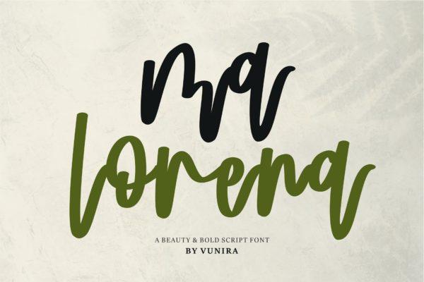 书法风格英文粗体字体 Ma Lorena | A Beauty & Bold Script Font