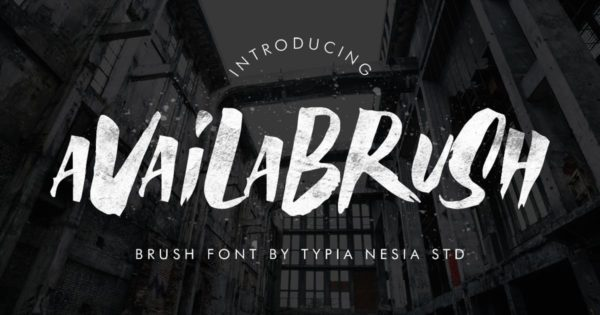 油漆粉刷风格英文无衬线字体素材 AvailaBrush Font