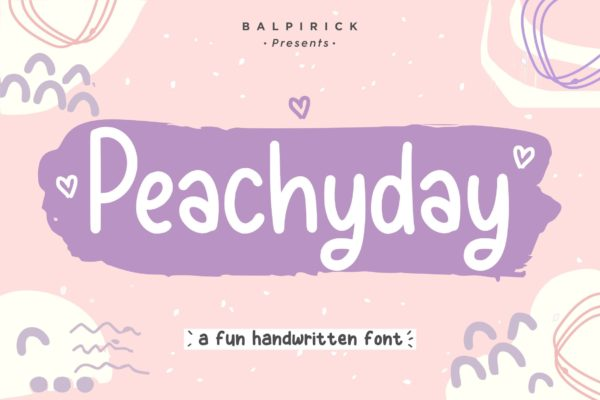 古怪英文手写字体素材 Peachyday YH – Display Handwriting Font