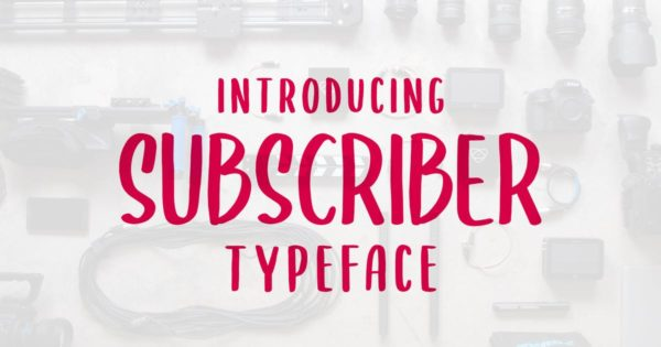 英文字母设计无衬线字体合集 SUBSCRIBER Font