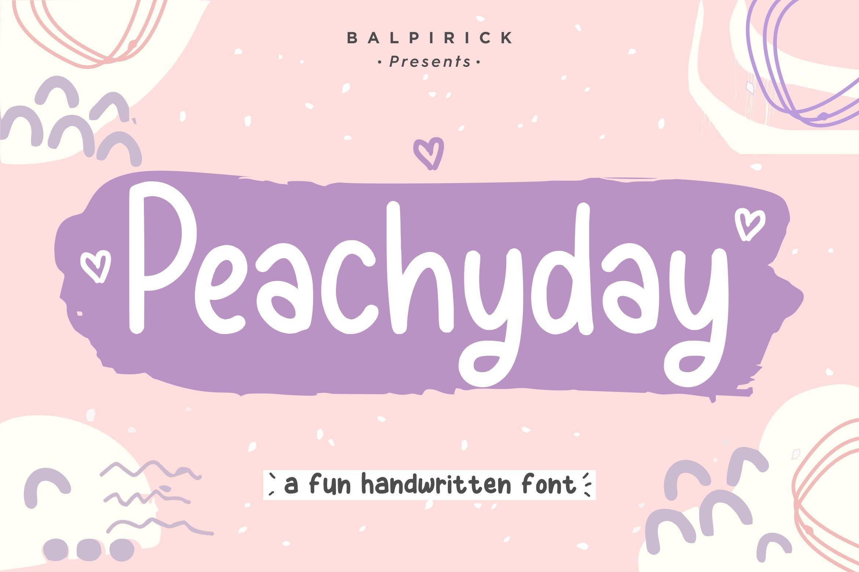 古怪英文手写字体素材 Peachyday YH – Display Handwriting Font设计素材模板