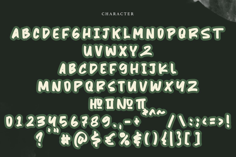 书法风格英文无衬线字体素材 设计素材模板