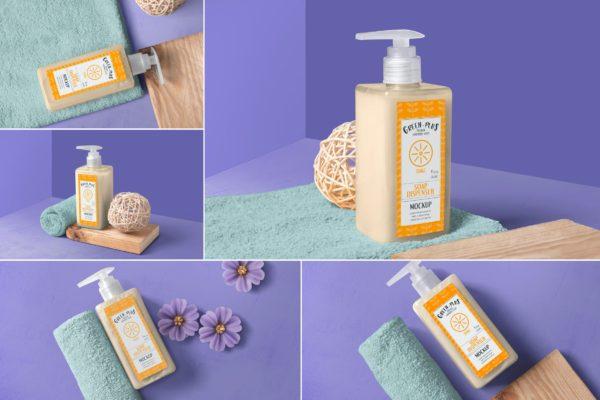 洗手液/沐浴露/洗发水分发瓶样机模板 Soap and Hand Sanitizer Dispenser Bottle Mockups