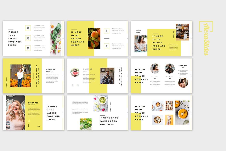 佳肴美食PowerPoint演示文稿模板 Rais – Food Powerpoint Template设计素材模板