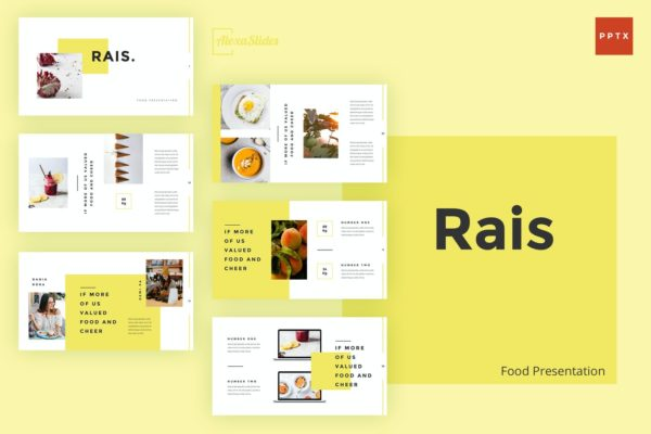 佳肴美食PowerPoint演示文稿模板 Rais – Food Powerpoint Template