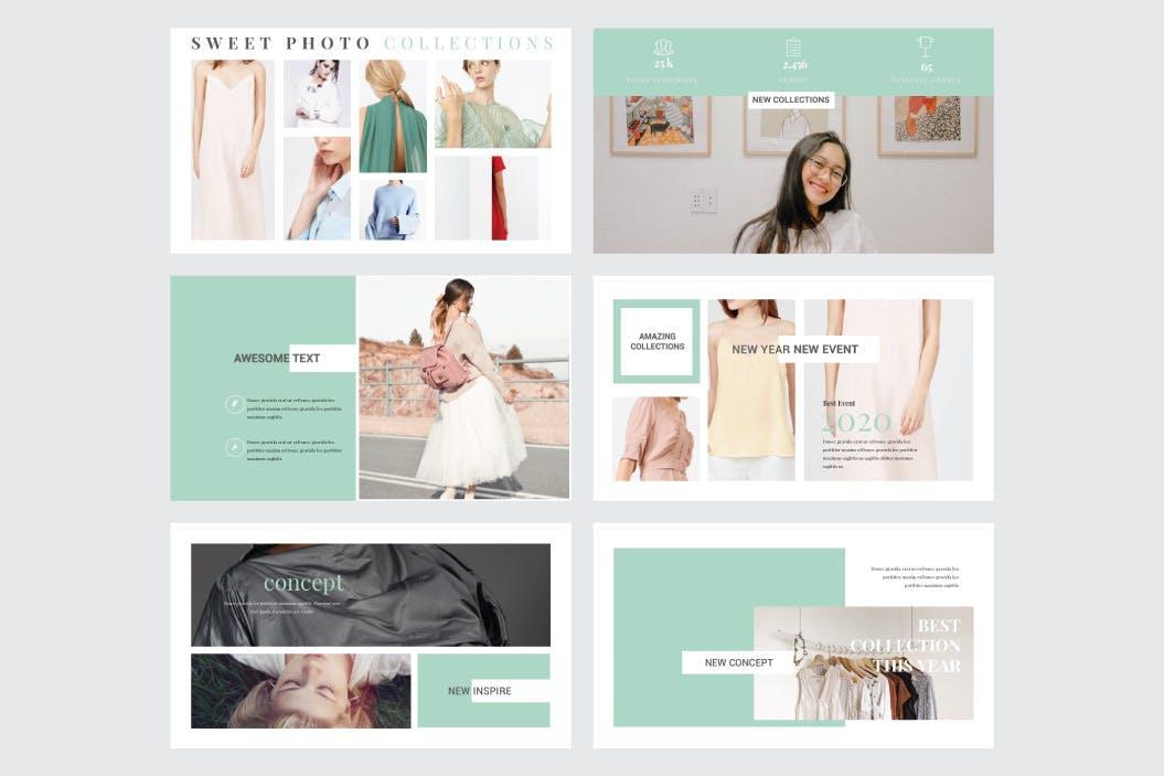 时尚现代服饰品牌预售PPT幻灯片模板 SOPHIA – Multipurpose Powerpoint V201设计素材模板