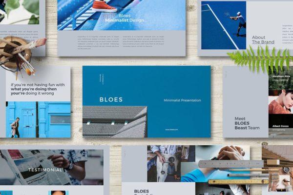 创意时尚个人演示/商务简历PPT文稿模板 BLOES PowerPoint Presentation
