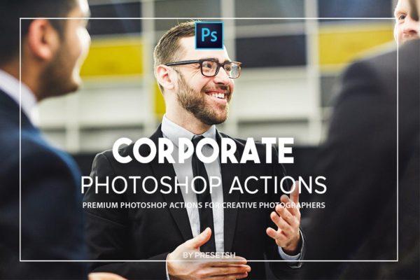 商务会议风格照片处理Photoshop动作 Corporate Photoshop actions